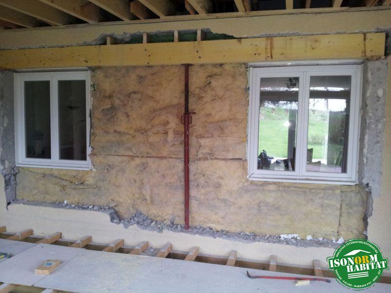 Ouverture de maçonnerie avec reprise de linteau