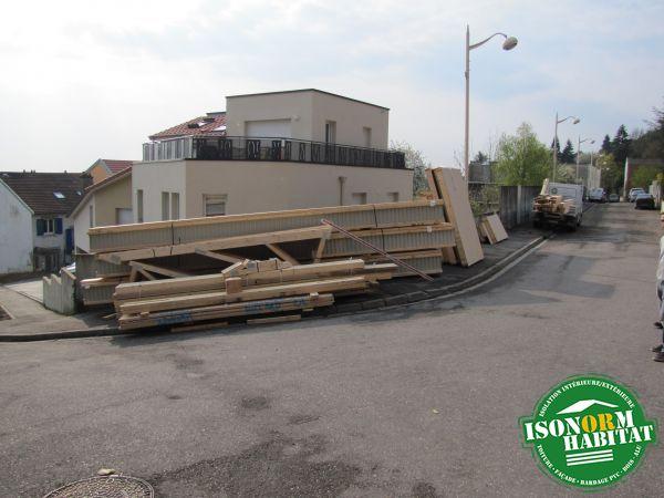 Stock des bois de charpente et d'ossature ainsi que les poutres du plancher