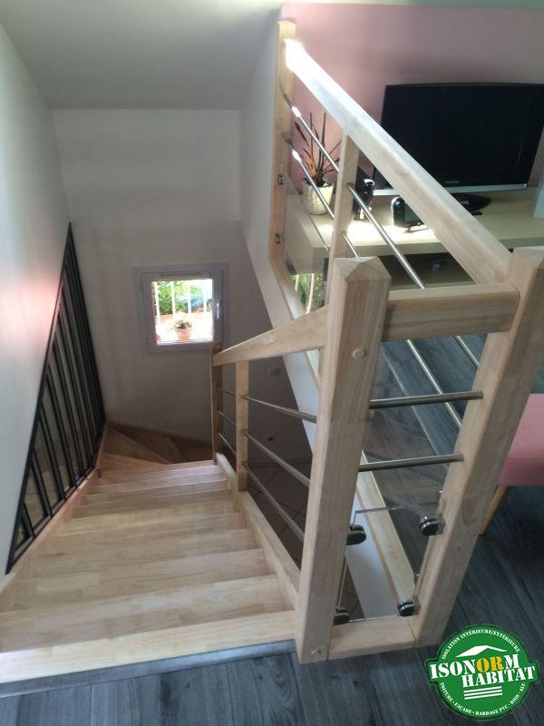 Escalier bois avec verrière