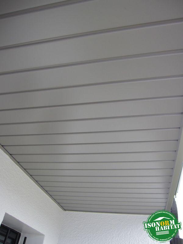 Habillage des sous faces en aluminium laqué