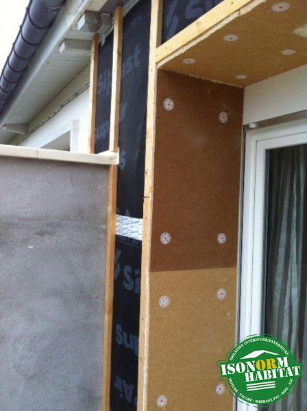 isolation des encadrements de fenêtres en fibre de bois rigide